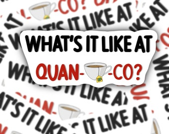 What's It Like At Quantico Sticker | Behavioural Analysis Unit | Penelope Garcia