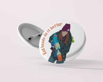 Nicole Haught Red Heads Do It Better Button | Wynonna Earp | Pin Badge