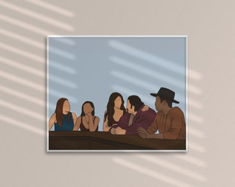 Earp Family Print Print | Wynonna Earp | Pride | Earper | Print | Art | Postcard | Family | Purgatory