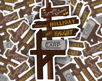 Homestead Letter Box Weatherproof Sticker | Peacemaker | Wynonna Earp | Waverly Earp | Vinyl Sticker