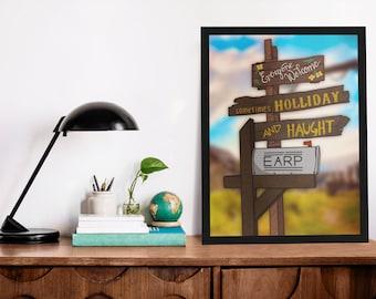 Homestead Mailbox Print | Wynonna Earp | Pride | Earper | Print | Art | Postcard | Purgatory