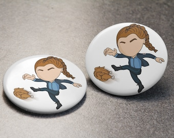 Chicken Kicker Button | Wynonna Earp | Earper | Nicole Haught | Pin Badge