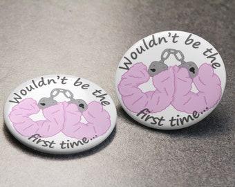 Handcuff Pin Badge | Wynonna Earp | Nicole Haught | Waverly Earp | WayHaught