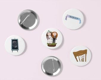 WayHaught Wedding Pin Set | Wynonna Earp | Waverly Earp | Nicole Haught | Pin Badge