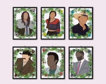 Wynonna Earp Characters (6x A6 Prints) | Postcard | Set