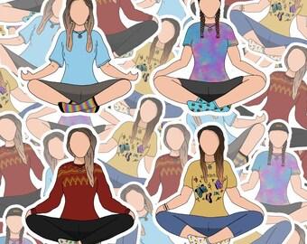 Dominique Provost-Chalkley Stickers | Meditation | Sticker | Weatherproof | Waverly Earp
