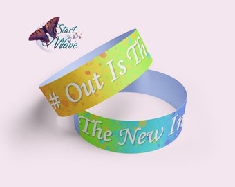 Out Is The New In Adjustable Fabric Wristband | Pride | LGBTQ | Dominique PC
