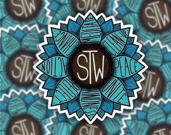 STW Inspired Sunflower Sticker | Start The Wave | Ocean | Flower | Weatherproof | Wynonna Earp