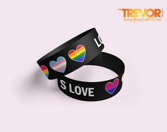 Love Is Love Fabric Adjustable Wristband | LGBTQ | Pride | Rainbow