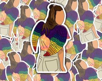 Dominique PC Rainbow Angel Wings Sticker | Waverly Earp | Pride | LGBTQ