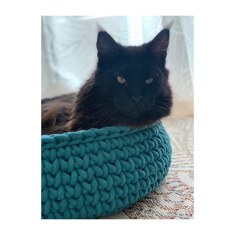 cotton rope pet cave gift for catlover Premium Crochet cat bedding grey cat basket large cat bed stylish gift for cat mom,cuddly fluffy