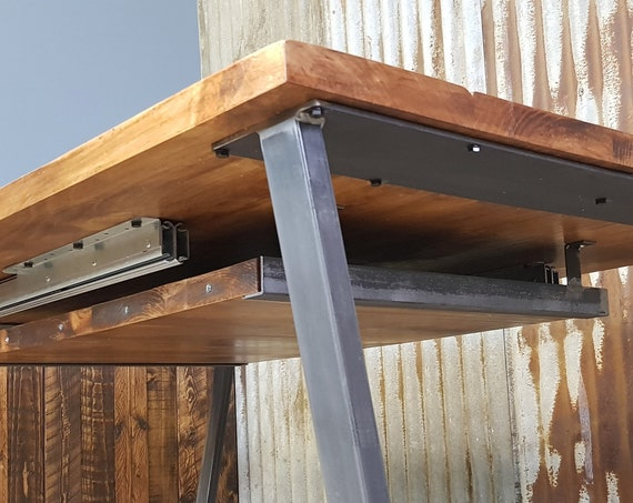 under table extension piece holder for extending dining tables