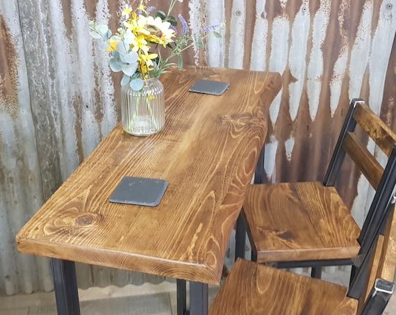 NEW! 'Live Edge' Industrial style breakfast bar, industrial poseur table, breakfast bar