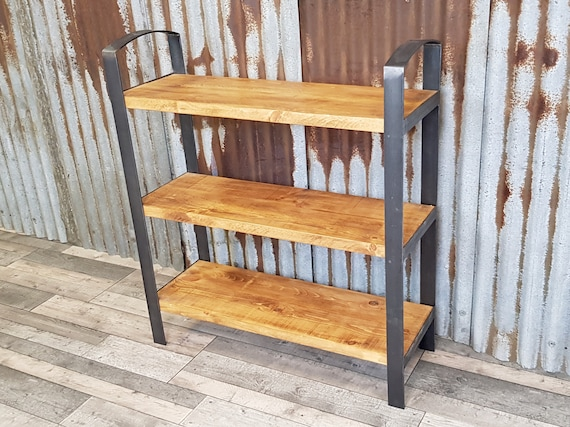Gothic Industrial free standing shelving unit, gothic inspired bespoke shelving units, freestanding wooden bookcase