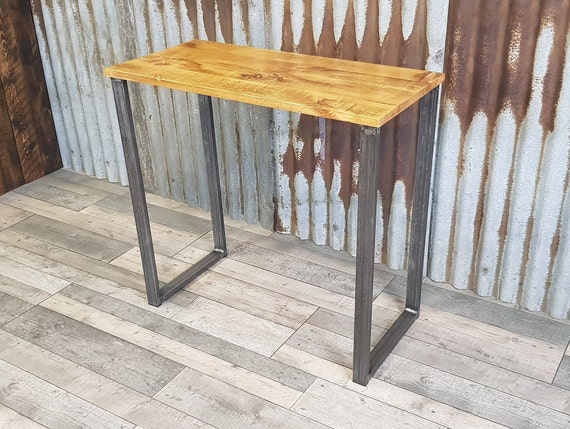 Industrial rustic desk, compact desk for home office, budget student desk