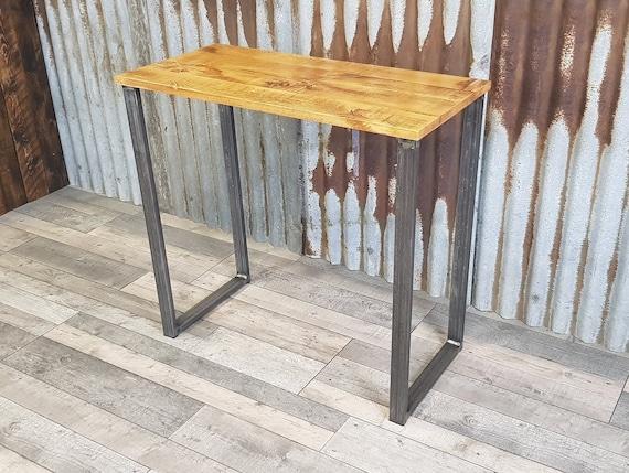Industrial rustic desk, compact desk for home office, budget student desk