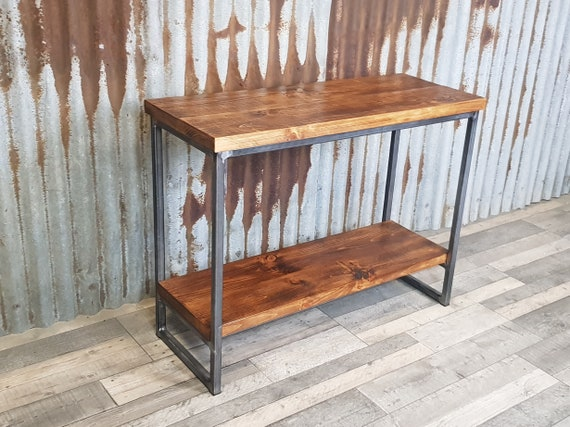 NEW! hallway table wood industrial style, slimline console table, bespoke entryway furniture,