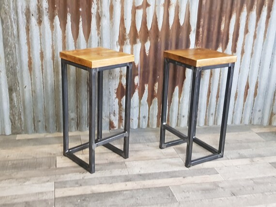 NEW! Industrial style breakfast bar stools, bar stools for poser tables,