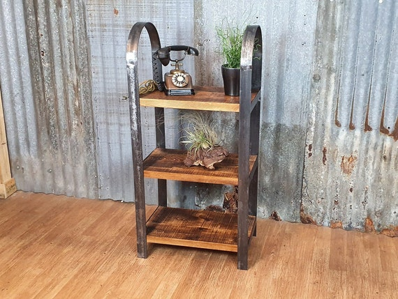 Gothic Industrial free standing shelving unit, gothic inspired bespoke shelving units, freestanding wood bookcase