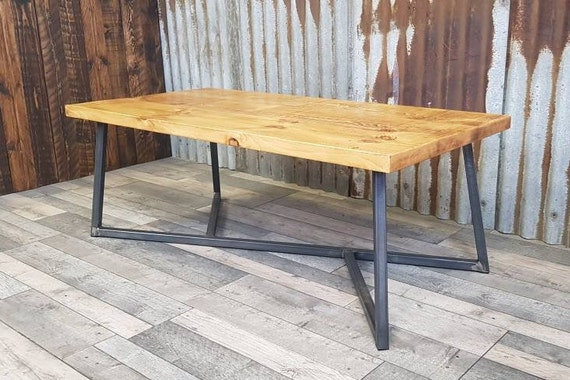Rune coffee table, Industrial reclaimed style coffee table, solid wood coffee table, bespoke living room furniture