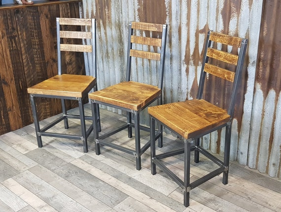 industrial style dining chair, bespoke dining chairs, wooden chairs, unique handmade dining chairs