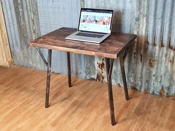 Rune Industrial rustic desk, compact desk for home office, budget student desk, hairpin leg desk