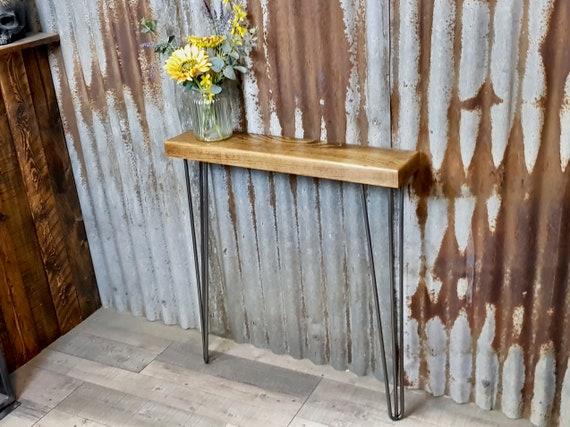 NEW!!! Rustic Narrow Hallway Console Table , Handmade Console Table, Rustic Radiator Shelf (15cm deep)