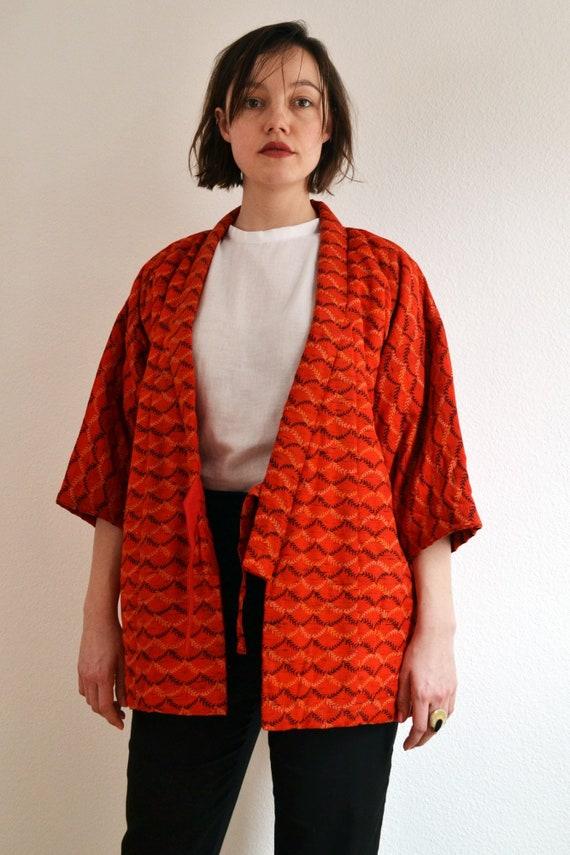 kimono cardigan, Kimono jacket, orange kimono, viv