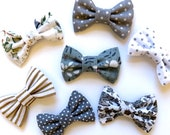 Pet Bow Dog Cat Collar Tie Grey White Pattern Floral Spots Stripes Cute Outfit 2 quot 3 quot Inch Tag Smart Wedding Formal