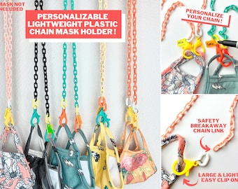 Plastic Face Mask Chain, Face Mask Lanyard, Mask Holder, Face Mask Lanyard Kids, Face Mask Strap, Chain, Face Mask Necklace