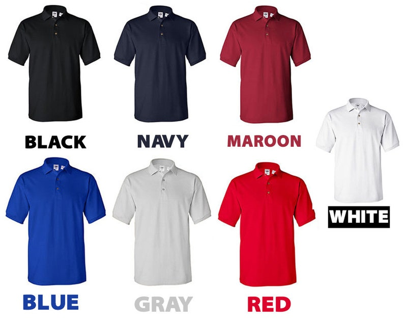 Custom Polo Shirts Design Your Own for Men Two Sided Print Logo Text LOGO  Text Embroidery Company Gift Unisex Men/'s Women/'s