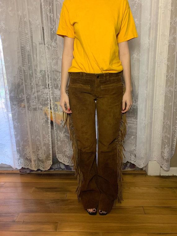 Vintage Brown Suede Western Pants