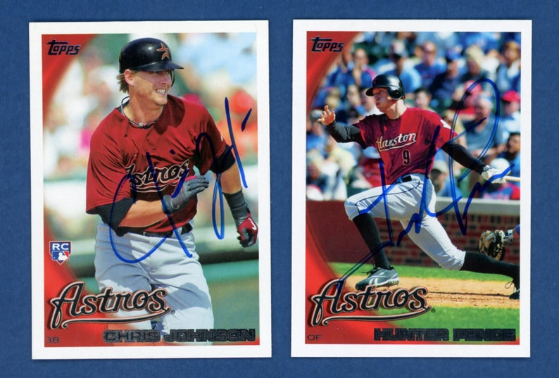 Hunter Pence and Chris Johnson Autographed 2010 Autographed Houston Astros