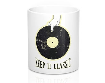 Keep It Classic Retro Vinyl Mug 11oz