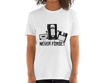 Never Forget  Funny Retro Tape Short-Sleeve Unisex T-Shirt
