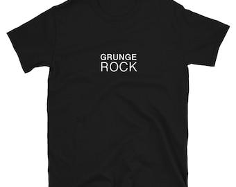 GRUNGE ROCK (90s Alternative Music): Mens/Unisex Premium Fitted T-Shirt
