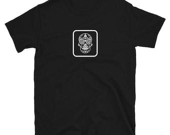 SUGAR SKULL: Mens/Unisex Premium Fitted T-Shirt