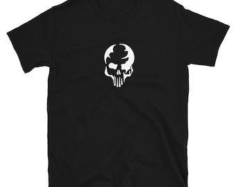 MINIMALIST SKULL: Mens/Unisex Premium Fitted T-Shirt
