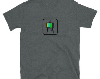 VINTAGE TELEVISION MELTING (Retro T.V.): Mens/Unisex Premium Fitted T-Shirt