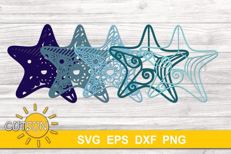 Download 3D Layered Mandala Starfish SVG 5 layers cut file   Etsy
