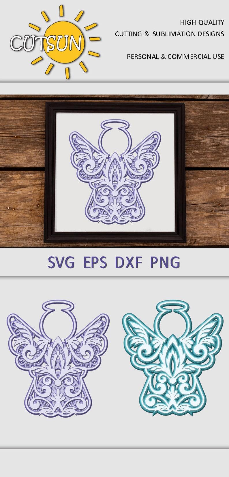 95+ Mandala Angel Svg – SVG,PNG,DXF,EPS include