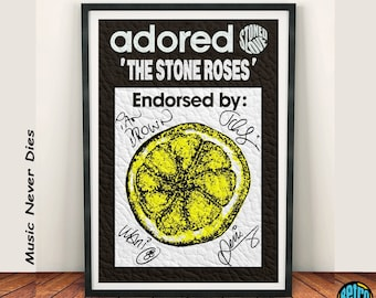 A3//A4 Size Lemon The Stone Roses Posters Wall Decor Home Bedroom