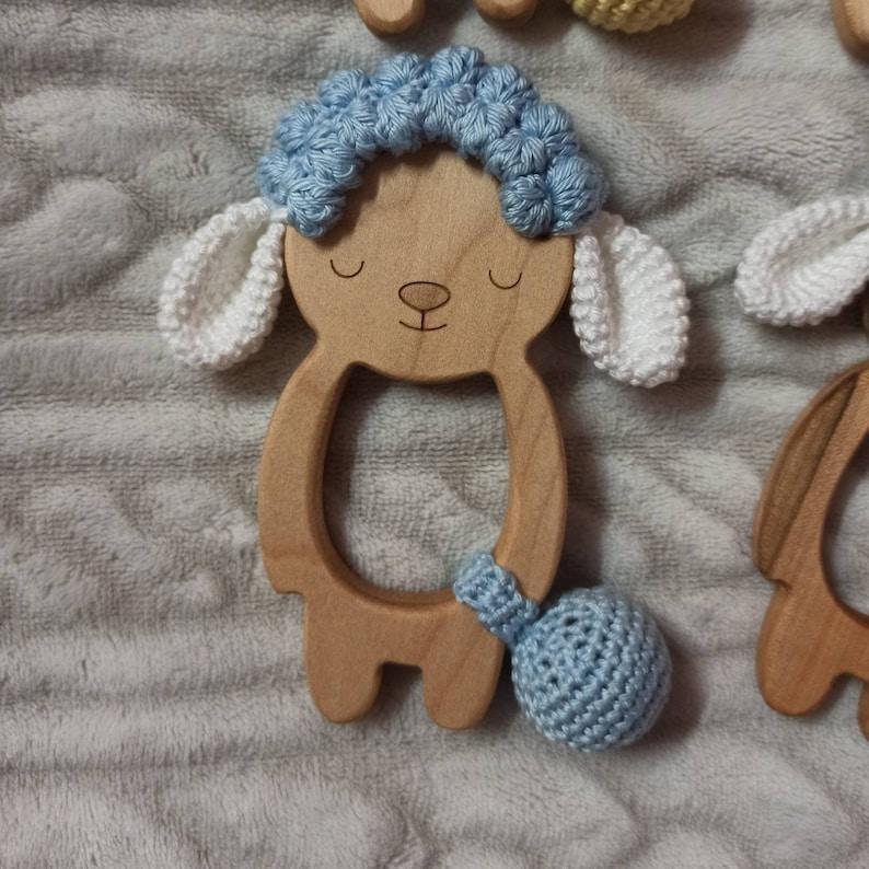 elefantino dentizione baby girl teeth primi dentin baby shower Massaggia gengive idea regalo baby gift baby boy teether pecorella
