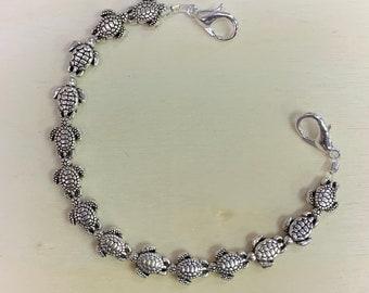 Silver Turtle Medical ID/Interchangeable Bracelet