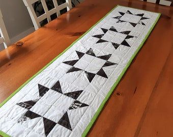 Patchwork Stars Table Runner Handmade in Newfoundland! Quilted Table Topper