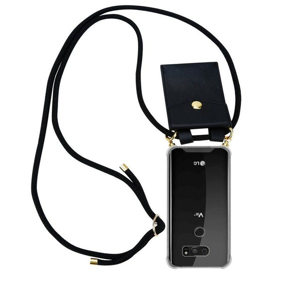 Mobile phone necklace for LG V30 in 23 colors shoulders phone case made of silicone with cord cord and removable case
