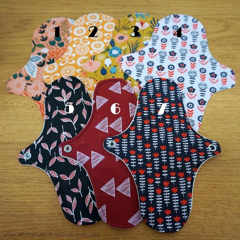 Washable sanitary towel zero waste periodic feminine protection GOTS organic cotton fabrics and Oeko-tex