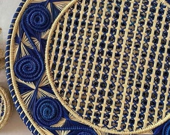 Straw Placemats, Caracoli / Halcyon