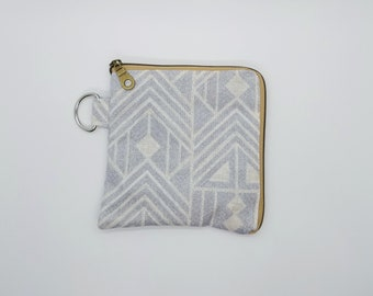 Contemporary Zipper Pouch Keychain for Her Modern Mask Pouch