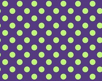 Hometown Halloween Dots - Purple/Green - 1/4 yard